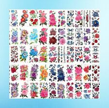 100 sheets tattoo stickers wholesale large flower rose peony temporary tattoo