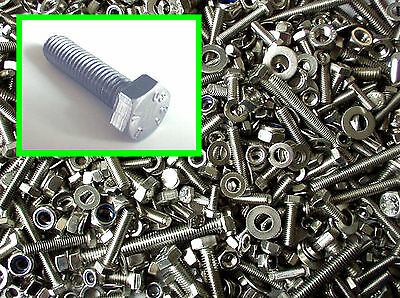 Stainless Hex Head Bolts (Setscrews) Nuts. Washers ... HUGE 1000 Pack M5. M6. M8