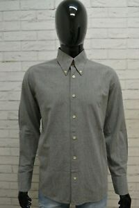 Camicia-Uomo-ARMANI-JEANS-Taglia-L-Maglia-Manica-Lunga-Grigio-Shirt-Man-Casual