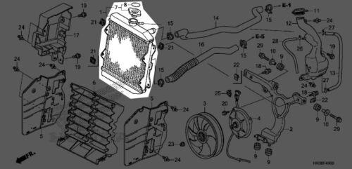 Honda 2014-2018 TRX Radiator 19010-HR3-A21 New OEM