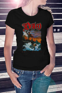 Ronnie-James-Dio-Holy-Diver-Frauen-T-Shirt-Rock-Band-Tee-Black-Sabbath-Shirt