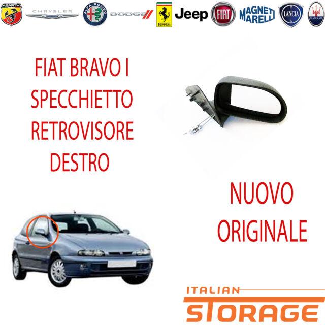 SPECCHIO SPECCHIETTO RETROVISORE SX MECCANICO NERO FIAT BRAVO 95/>01 1995 AL 2001
