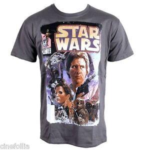 T-shirt-Star-Wars-Comic-fumetto-Guerre-Stellari-Uomo-ufficiale-Plastic-head