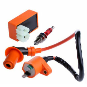 Racing-Ignition-Coil-CDI-Ignition-Coil-Spark-Plug-For-GY6-50cc-125cc-150cc-HO