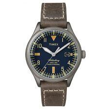 Timex Originals TW2P84400 Mens Waterbury Mid Size Brown Leather Strap Watch