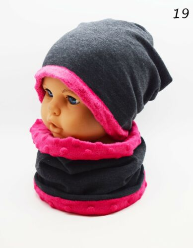 Girls Hats and Scarves Kids Hat with Scarf Fleece Lining Warm Set Winter