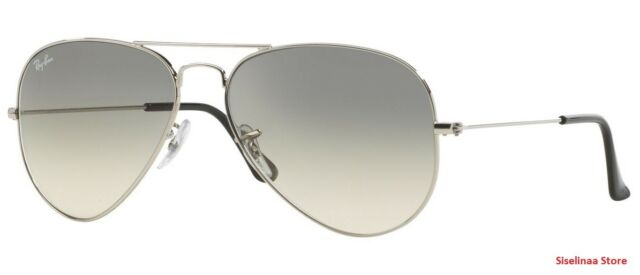 86714a6ce3 Ray Ban 3025 003 32 Aviator Silver Gradient Sunglasses 58mm New and  Authentic