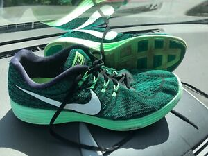 huge selection of c38ad 2f24b Details about NIKE Sneakers Men's Athletic Running LUNAR TEMPO 2 Black Neon  Green Size 11.5