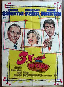 Filmplakat-3-x-nach-Mexico-Rat-Pack-Frank-Sinatra-Dean-Martin-1965