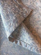 """Tischdecke mit Hohlsaum """"LAIMA"""" 143x300 cm Leinen Jacquard, Paisley, blau / weiß"""