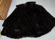Toller Nerzmantel Nerzjacke dunkel braun super Glanz Size M 38 40 brown Mink