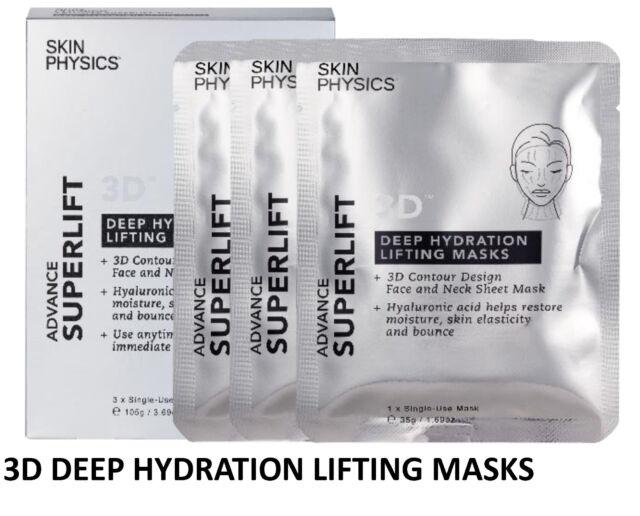=>Skin Physics Advance Superlift 3D Deep Hydration Lifting Masks 3PK