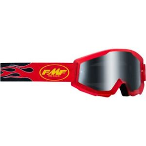 100-FMF-F-50440-102-03-Flame-Red-Sand-Goggles-Smoke-Lens-MX-Offroad-MTB