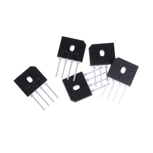 5Pcs GBU808 800V 8A single phases diode bridge rectifier ic chip  In S RA