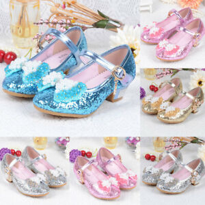 For Kids Girls Princess Shoes PU Baby Single Shoes Soft Toddler Dresses Shoes
