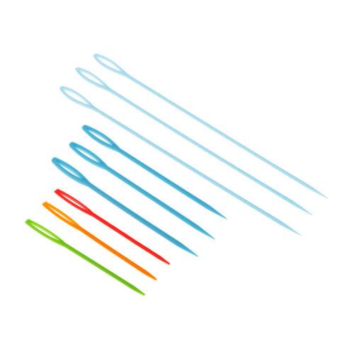 9 Stück Plastiknadel Strickwerkzeuge Handnähnadeln DIY Sweater Stitches