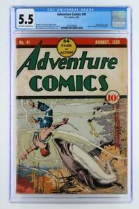 Adventure-Comics-41-CGC-5-5-FN-DC-1939-Ad-for-New-York-World-039-s-Fair-1939
