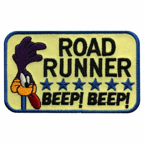 Iron on sew on-3.25 X 2.0 Miltacusa Road Runner Beep Beep Embroidered Patch