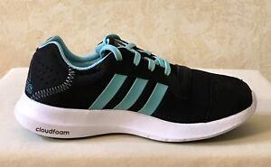 Women Adidas Element Refresh Athletic Running Training Shoes Black/blue BA7913