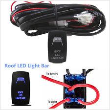 off road atv jeep 300w 12v led light bar wiring harness fuse relay  40 amp off road atv jeep roof led light bar wiring harness relay & on
