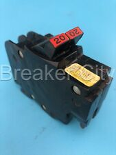Federal Pacific 20 Amp 2 Pole Nc Circuit Breaker Fpe 120240vac Thin Chip Read