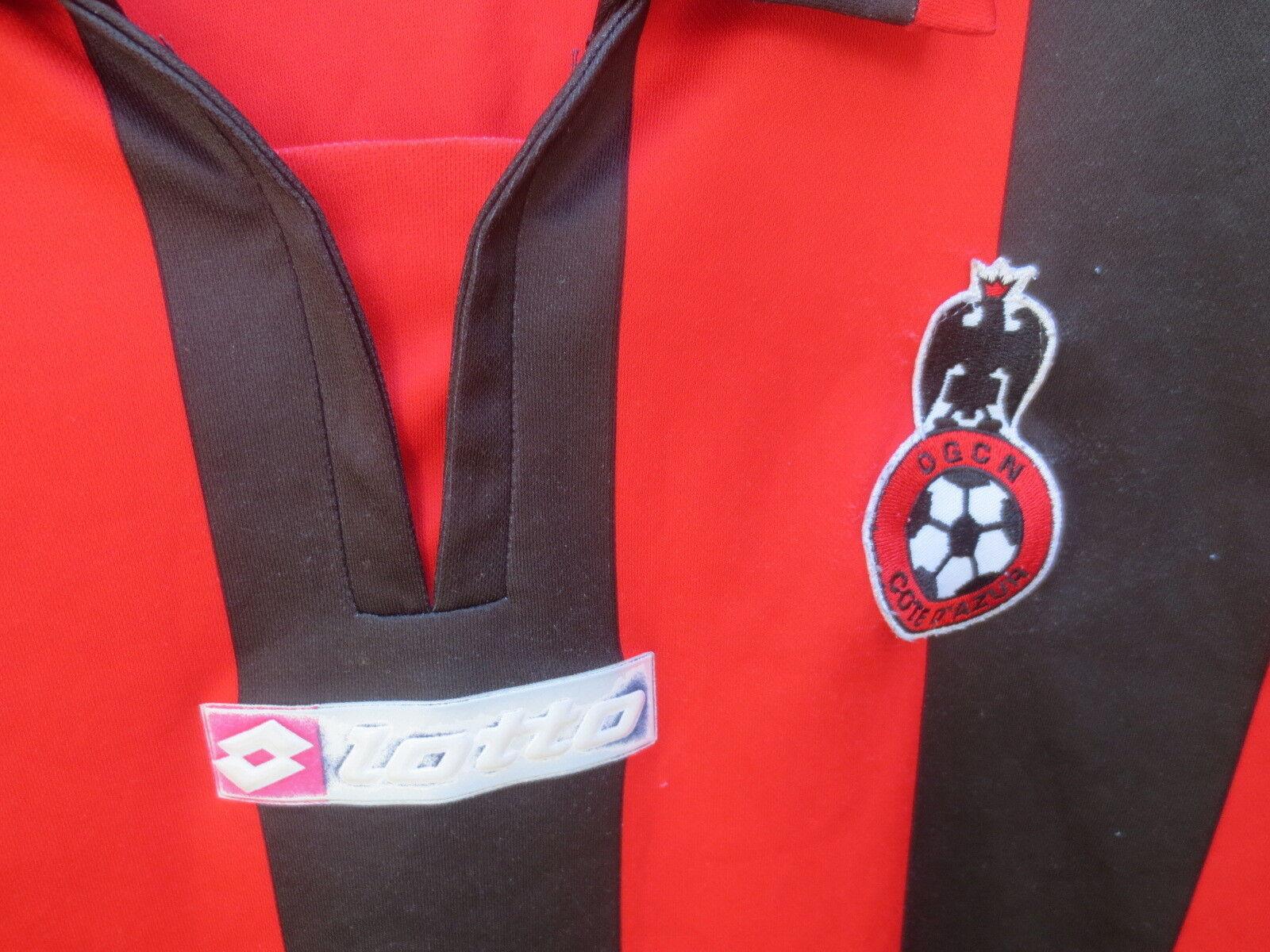 VINTAGE Maillot O.G.C O.G.C O.G.C NICE 2007/2008 LOTTO football shirt maglia sans sponsor M cad53a