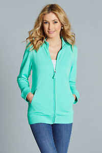 Ex Chainstore Ladies Plus Size Zip Up Jacket in Pale Green Size 24