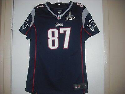 Patriots Super Bowl 49 on field jersey # 87 GRONKOWSKI | eBay