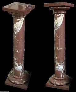 Altri Complementi D'arredo Colonna Marmo Rosso Laguna Marble Vintage Classic Old Home Design Column H.100cm Arte E Antiquariato