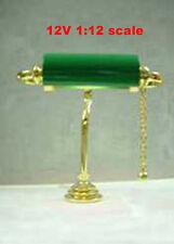 Clearance SALE desk table Readingl Lamp12v dollhouse miniature1:12 light