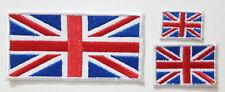 Union Jack British UK Flag set   EMBROIDERED SEW IRON ON PATCH BADGE set
