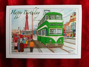 The Blackpool tram - Birthday Card - Tony Paultyn