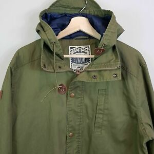 ELWOOD-Mens-Size-XL-Military-Green-Hooded-Coat-Jacket
