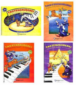 Tastenzauberei-Klavierschule-mit-CD-Band-waehlbar-1-Bleistift-034-Musikmotiv-034