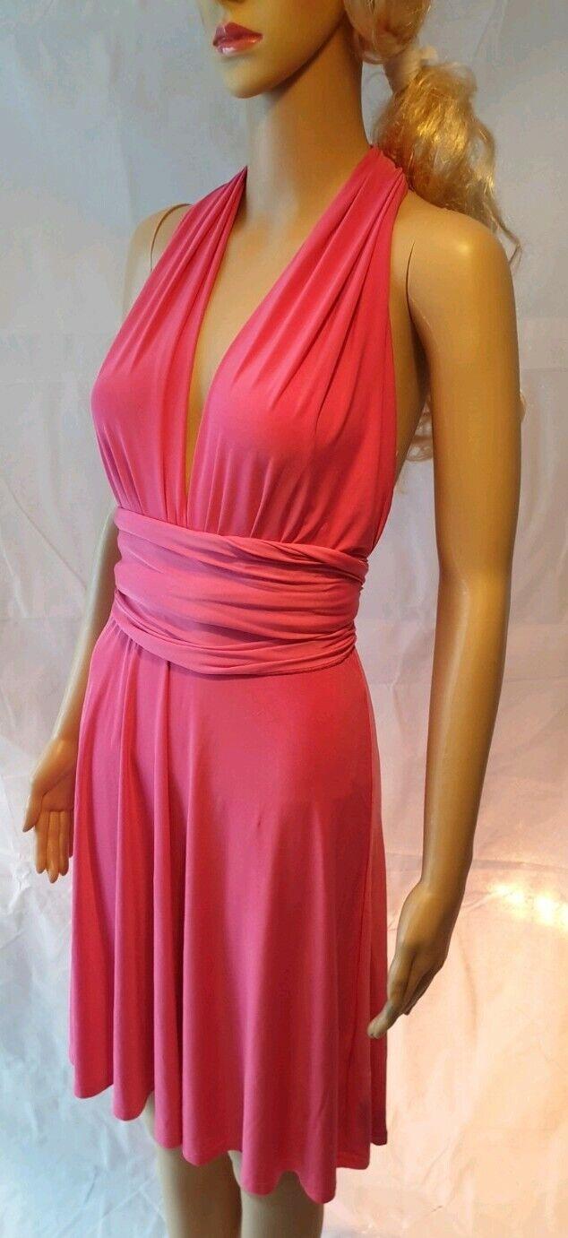 Jane Norman Pink Multiway Short Dress - SIZE 12 - RRP
