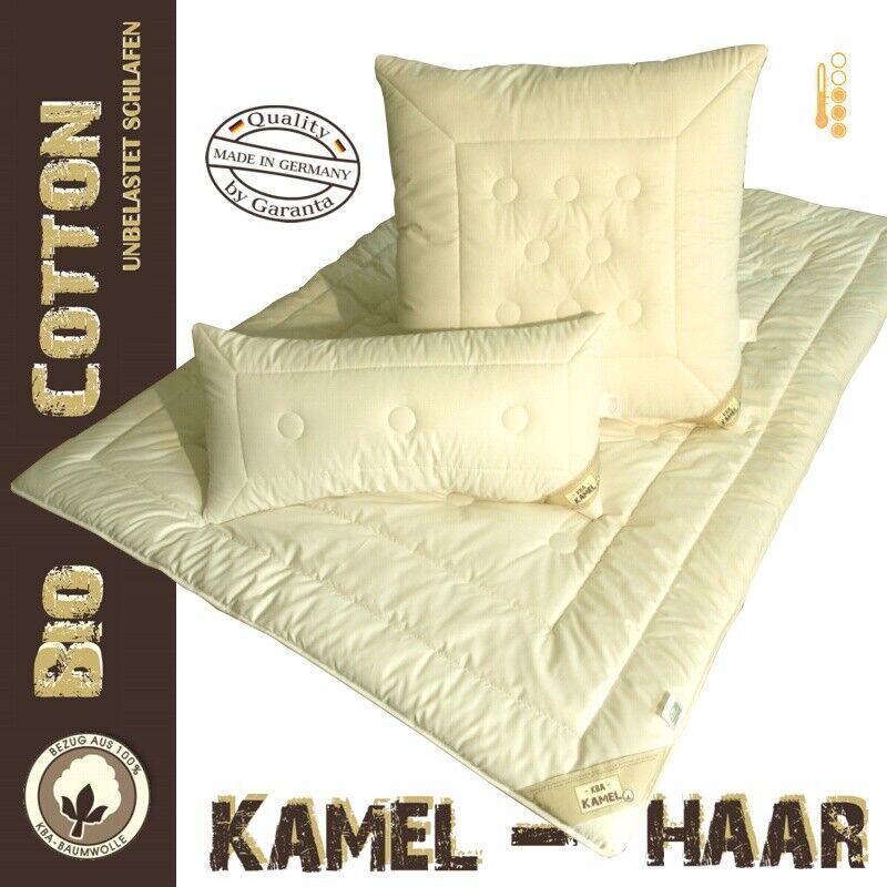 Kamelhaar Übergangs / Ganzjahresdecke Bezug 100% kbA Baumwolle Duo-Leicht Decke