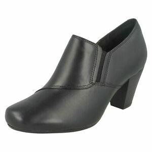de cremallera interior Style cuero negro New Clarks Colette con Autumn Zapato Garnit wRRYOq