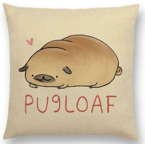 Happy Letters Nickname Cat Dog Pug Cushion Cover Sofa Throw Pillow Case