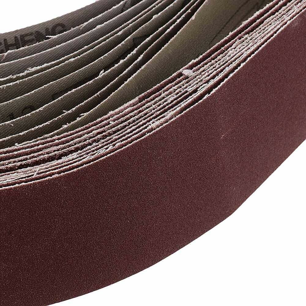 10pcs 40x680mm Sanding Belt For Metal Wood Grinding Sander 60~240 Grit Polishing