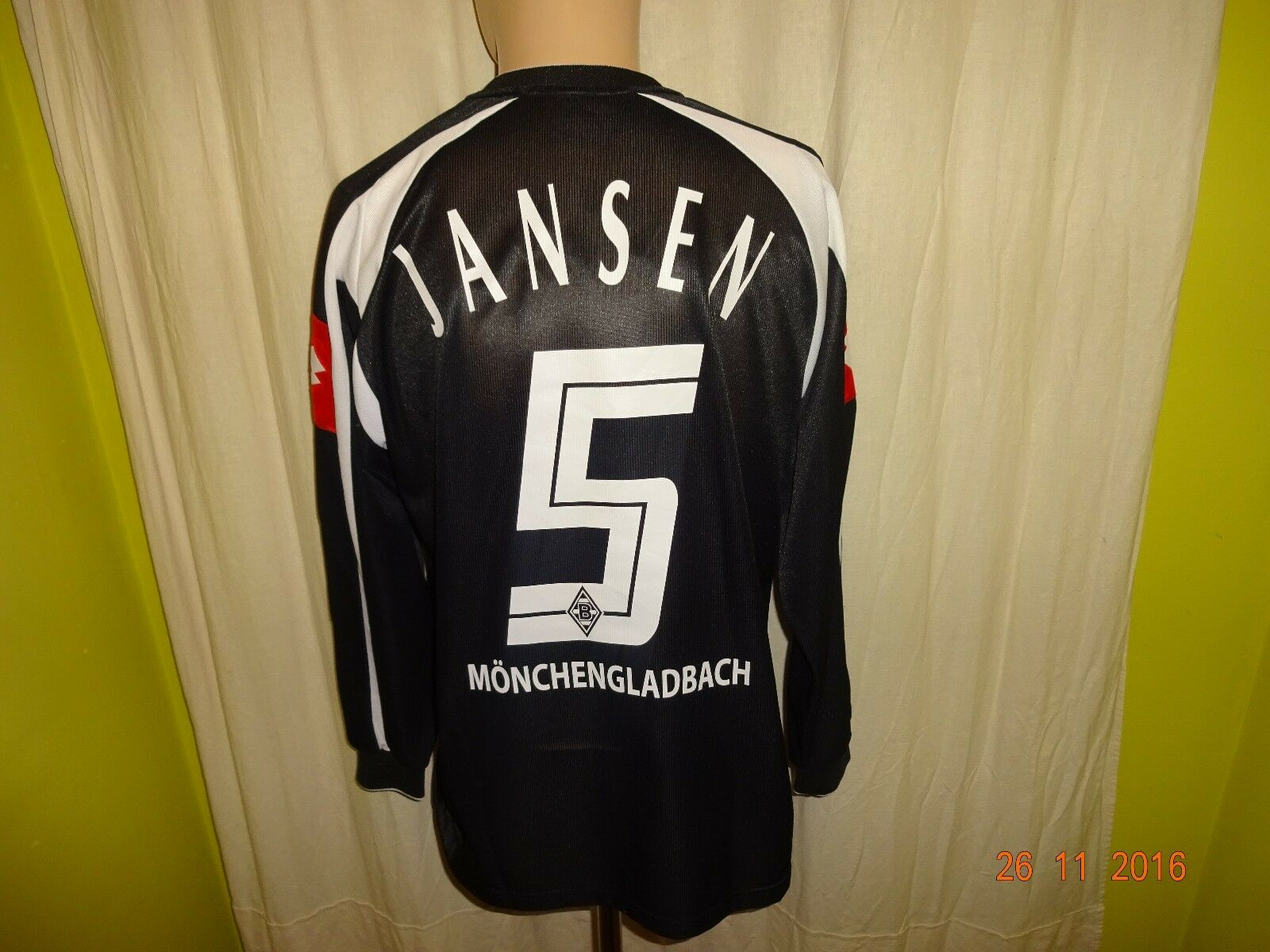 Borussia Mönchengladbach Lotto Langarm Spieler Trikot 2005/06 + Nr.5 Jansen Gr.M