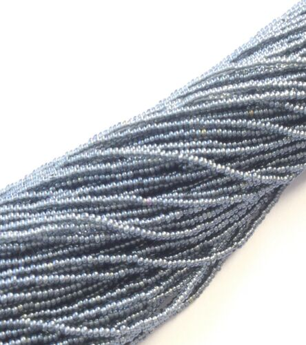 24 Strands 15//0 Two Hanks Czech Gray Luster Glass Seed Beads