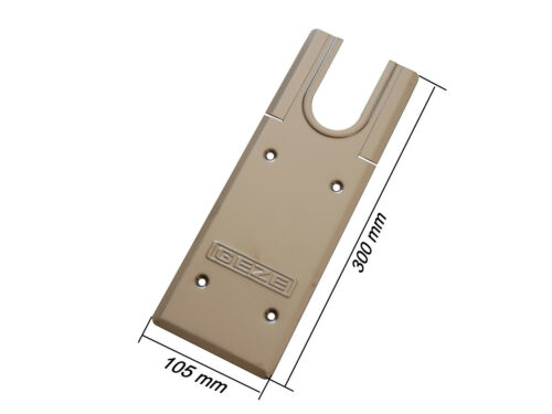 Edelstahl matt für GEZE TS 500 Geze Deckplatte 102127 für Bodentürschließer