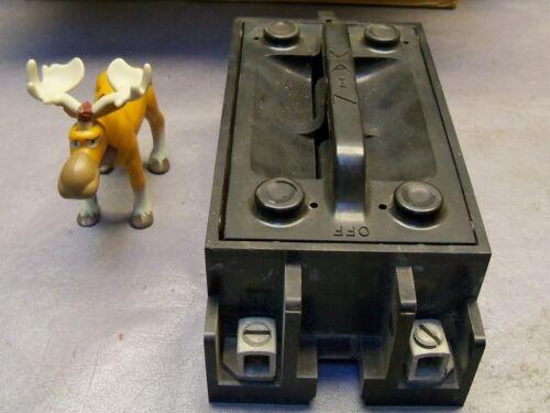 Arrow Hart 100 Amp Main Vintage Fuse Block 24200-12 Pullout lid W// Crossbar