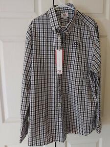 New Men Gray Blue Check Gilman Greyhounds School Button Down Dress Shirt Size XL