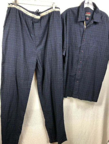 FUBU Mens Shirt Large , Xl Pants 2 Piece  Set Navy