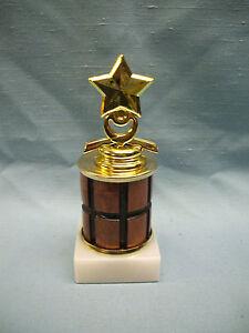 STAR-trophy-award-white-marble-base-turned-wood-column