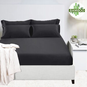 400 Thread Count Bamboo Cotton Fitted Sheet|2 Pillowcases|Fitted Set,Q/K/MQ/MK