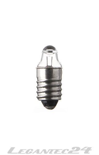 Glühlampe 1,2V 220mA E10 Lens 9x24mm Glühbirne Lampe Birne 1,2Volt 220mA neu