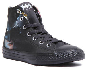 a486e93dedf9 Chuck Taylor All Star Hi DC Comics Batman Kids Canvas Black Hi Top ...