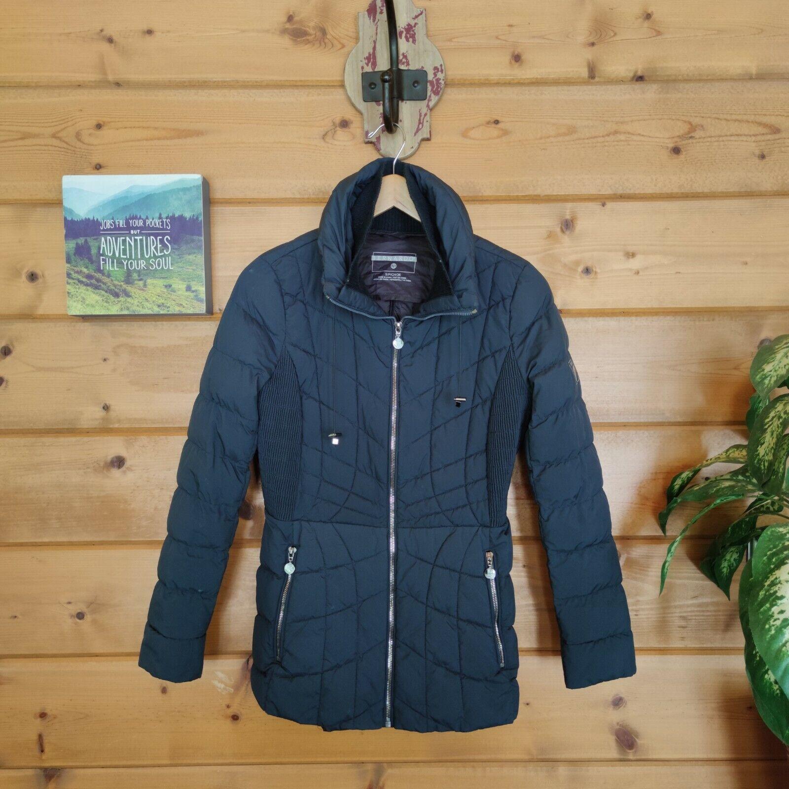 Bernardo Ecoplume Packable Jacket Quilted Puffer Coat Hooded Primaloft Sz Small
